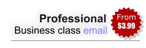 Professional Business class email From  $3.99